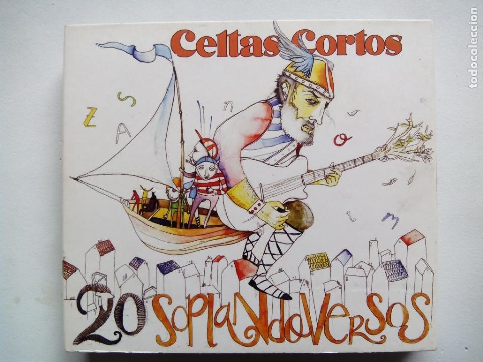 CELTAS CORTOS. 20 SOPLANDO VERSOS. 2 CD'S + DVD DRO 0825646346127. ESPAÑA 2006. FOLK ROCK. (Música - CD's Rock)