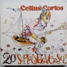 CDs de Música: CELTAS CORTOS. 20 SOPLANDO VERSOS. 2 CD'S + DVD DRO 0825646346127. ESPAÑA 2006. FOLK ROCK. . Lote 169099976