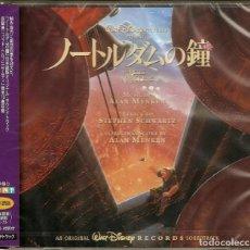 CDs de Música: THE HUNCHBACK OF NOTRE DAME / ALAN MENKEN CD BSO - JAPAN. Lote 169135536