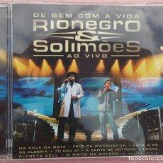 CDs de Música: RIONEGRO & SOLIMÕES - DE BEM COM A VIDA AO VIVO (UNIVERSAL / MERCURY, 2004) /// ED. BRASIL ORIGINAL. Lote 169209736