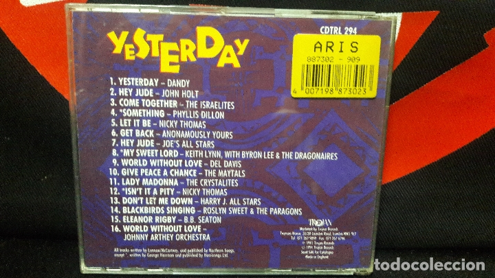 CDs de Música: YESTERDAY 16 FAB BEATLES REGGAE CLASSICS - CD- TROJAN RECORDS - DIFICIL - Foto 3 - 169226584
