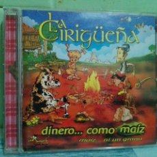 CDs de Música: LA CIRIGUEÑA DINERO.... COMO MAIZ ...MAIZ NI UN GRANU ASTURIAS CD ALBUM PEPETO. Lote 169237312