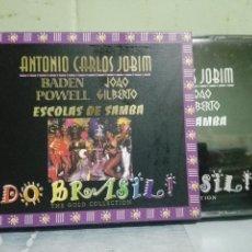 CDs de Música: ANTONIO CARLOS JOBIM - BADEN POWELL / JOAO GILBERTO - ESCOLAS DE SAMBA DO BRASIL - DOBLE CD PEPETO. Lote 169237624