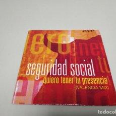 CD di Musica: 619- SEGURIDAD SOCIAL QUIERO TENER TU PRESENCIA CD SINGLE PROMOCIONAL . Lote 169567588