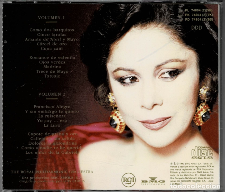 CDs de Música: ISABEL PANTOJA - LA CANCION ESPAÑOLA / DOBLE CD DE 1990 RF-2258 , PERFECTO ESTADO - Foto 2 - 169608396