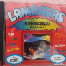 CDs de Música: LAMBADAS INTERNACIONAIS, VOL. 6 (ATRAÇAO FONOGRÁFICA) /// ED. BRASIL ORIGINAL, RARO /// SAMBA FORRÓ . Lote 169798360