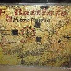 CDs de Música: FRANCO BATTIATO -POBRE PATRIA - CD SINGLE PROMO ESPAÑOL 1993 . Lote 169825564