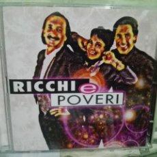 CDs de Música: RICCHI E POVERI - TODOS SUS GRANDES EXITOS EN ESPAÑOL E ITALIANO DOBLE CD NUEVO¡¡. Lote 169912408