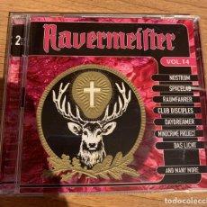 CDs de Música: RAVERMEISTER 14 - RAVE - TECHNO - 2CD'S. Lote 170140680