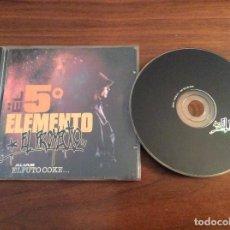 CDs de Música: EL 5º ELEMENTO EL QUINTO ELEMENTO - EL PROYECTO - ALIAS EL PUTO COKE - CD - MUY DIFICIL DE VER!!!. Lote 170240128