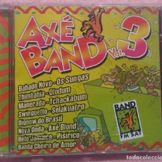 CDs de Música: AXÉ BAND VOL. 3 (SKY BLUE MUSIC, 2003) /// ED. BRASIL ORIGINAL, RARO /// SAMBA / AXÉ / FORRÓ / BOSSA. Lote 170257024