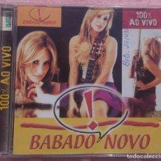 CDs de Música: BABADO NOVO - 100% AO VIVO (NATAL RECORDS, 2002) /// ED. BRASIL ORIGINAL, RARO /// SAMBA / AXÉ FORRÓ. Lote 170258068