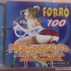 CDs de Música: FORRÓ 100 - PRECONCEITO AO VIVO, VOL. 5 (SONOPRESS) /// ED. BRASIL ORIGINAL, RARO // SAMBA AXÉ FORRÓ. Lote 170258860