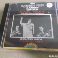CDs de Música: MANUEL VALLEJO (CD) EL FLAMENCO COMO SUENA AÑO – 1990. Lote 170321992