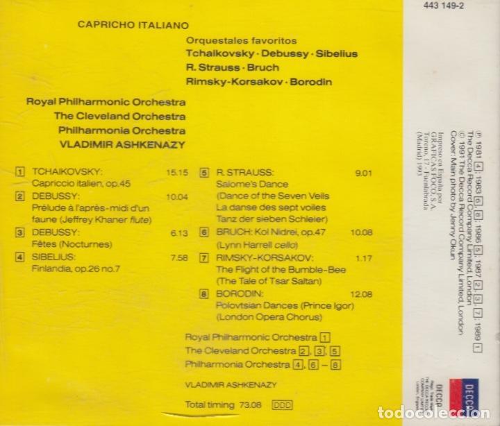 CDs de Música: CAPRICCIO ITALIEN. VLADIMIR ASHKENAZY - Foto 2 - 170359744
