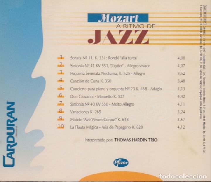 CDs de Música: MOZART A RITMO DE JAZZ. THOMAS HARDIN TRIO - Foto 2 - 170359824