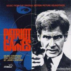 CDs de Música: JAMES HORNER - PATRIOT GAMES / JUEGO DE PATRIOTAS - CD . Lote 170361720