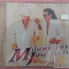 CDs de Música: MILIONÁRIO & JOSÉ RICO - O DONO DO MUNDO (WARNER MUSIC, 2002) /// ED. BRASIL ORIGINAL, RARO // SAMBA. Lote 170363488