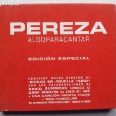 CDs de Música: PEREZA. ALGO PARA CANTAR. EDICIÓN ESPECIAL. CD RCA 82876587112. ESPAÑA 2002. LEIVA. DANI MARTÍN.. Lote 170431600