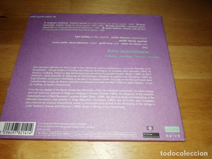 CDs de Música: FROM SCANDINAVIA - ARDITTI STRING QUARTET - MONTAIGNE 2001 - LINDBERG SORENSEN TIENSUU SAARIAHO - Foto 2 - 170453628
