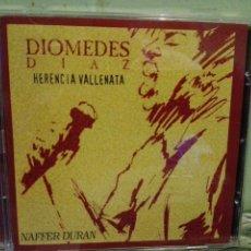 CDs de Música: DIOMEDES DIAZ. HERENCIA VALLENATA. NAFFER DURAN. CD ALBUM . Lote 170454476