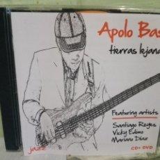 CDs de Música: APOLO BASS TIERRAS LEJANAS CD + DVD PEPETO. Lote 170457908