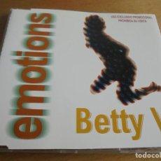 CDs de Música: RAR PROMO MAXI CD. BETTY V. EMOTIONS. 4 TRACKS. MADE IN SPAIN. Lote 170581055