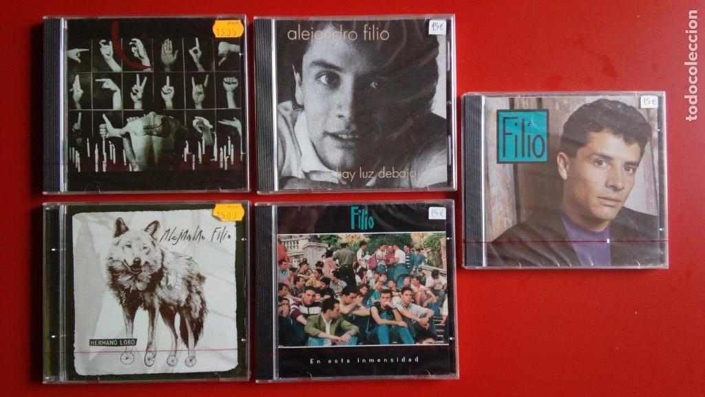 ALEJANDRO FILIO. 'HAY LUZ DEBAJO' + 'FILIO' + 'HERMANO LOBO' + 'CAÍN' + 'EN ESTA INMENSIDAD' (Música - CD's Otros Estilos)