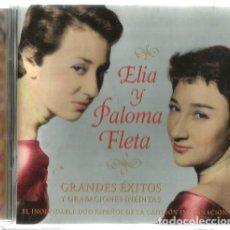 CDs de Música: CD ELIA Y PALOMA FLETA : GRANDES EXITOS ( PENJAMO + PIROPO + CHACACHA DEL TREN + ETC ) 25 CANCIONES . Lote 170985340