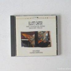 CDs de Música: ELLIOTT CARTER - SONATE, A SIX LETTER LETTER, PASTORALE, SCRIVO IN VENTO, TRIPLE DUO. Lote 171005393