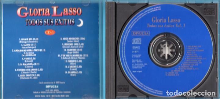 CDs de Música: DOS CD DE GLORIA LASSO EDICIÓN DIVUCSA EN EL AÑO 1995 EN ESPAÑA - Foto 3 - 171023795
