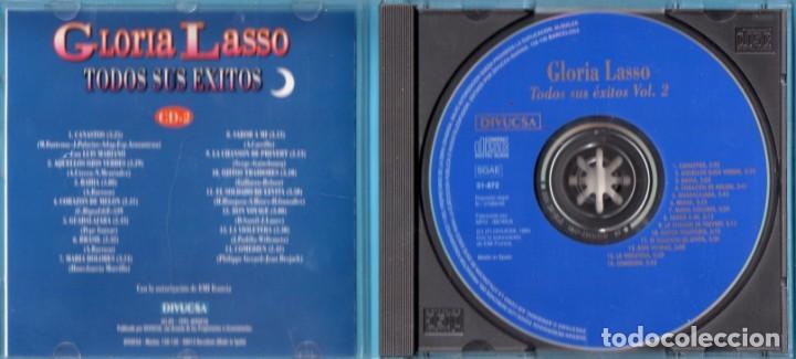 CDs de Música: DOS CD DE GLORIA LASSO EDICIÓN DIVUCSA EN EL AÑO 1995 EN ESPAÑA - Foto 4 - 171023795