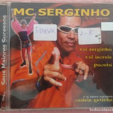 CDs de Música: MC SERGINHO - SEUS MAIORES SUCESSOS (INDIE RECORDS / UNIVERSAL, 2003) /// ED. BRASIL ORIGINAL, RARO. Lote 171125743