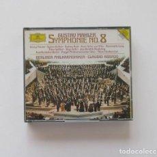 CDs de Música: GUSTAV MAHLER SYMPHONIE N0 8 - BERLINER PHILHARMONIKER, CLAUDIO ABBADO - 2 CD. Lote 171153268
