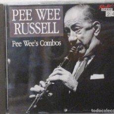 CDs de Música: PEE WEE RUSSELL - PEE WEE'S COMBOS - . Lote 171161798