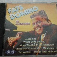 CDs de Música: 33-CD FATS DOMINO IN CONCERT, 1997. Lote 171168574