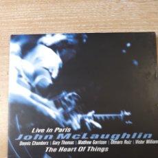 CDs de Música: JOHN MCLAUGHLIN THE HEART OF THINGS LIVE IN PARIS. Lote 171175194