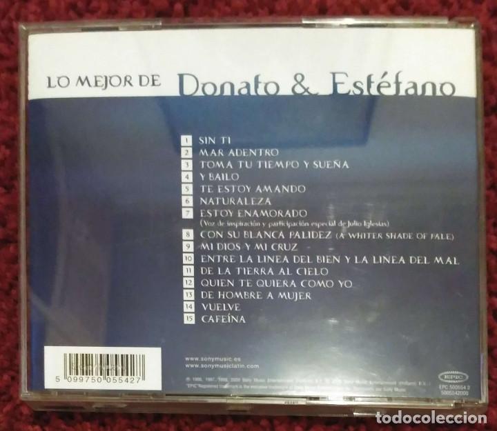CDs de Música: DONATO & ESTEFANO (LO MEJOR DE DONATO & ESTEFANO) CD 2000 - JULIO IGLESIAS - Foto 2 - 171202459