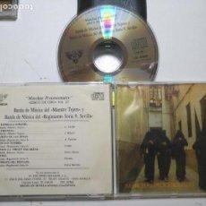 CDs de Música: CD SEMANA SANTA SEVILLA MARCHAS PROCESIONALES DISCO ORO VOL2 BANDA MAESTRO TEJERA REGIMIENTO SORIA 9. Lote 171208189