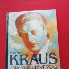 CDs de Música: ALFREDO KRAUS, UNA VOZ UNIVERSAL, 2 CD + LIBRO EDICIÓN CONMEMORATIVA. Lote 171261688