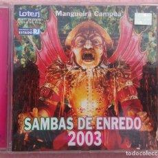 CDs de Música: SAMBAS DE ENREDO 2003 (BMG 2002) /// ED. BRASIL ORIGINAL, RARO /// FORRO AXÉ BOSSA NOVA FUNK. Lote 171264015