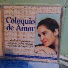 CDs de Música: COLOQUIO DE AMOR CD SANTA TERESA DE JESUS RTVE RECITAL POEMAS SONNIA RIVAS LAFOURCADE PEPETO. Lote 171274720