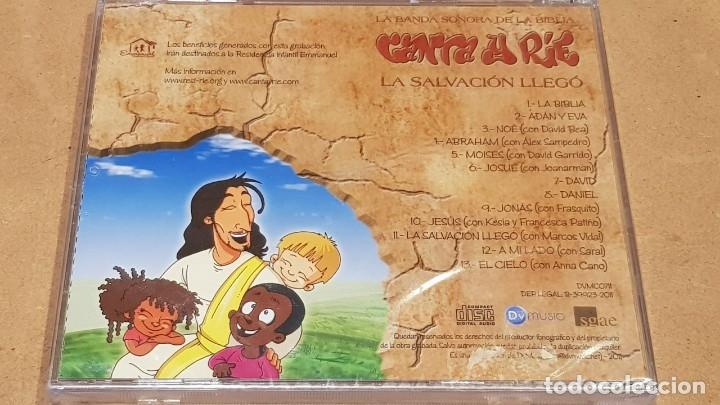 CDs de Música: CANTA Y RIE / LA BANDA SONORA DE LA BIBLIA / LA SALVACIÓN LLEGÓ / CD-13 TEMAS / PRECINTADO. - Foto 2 - 171323504