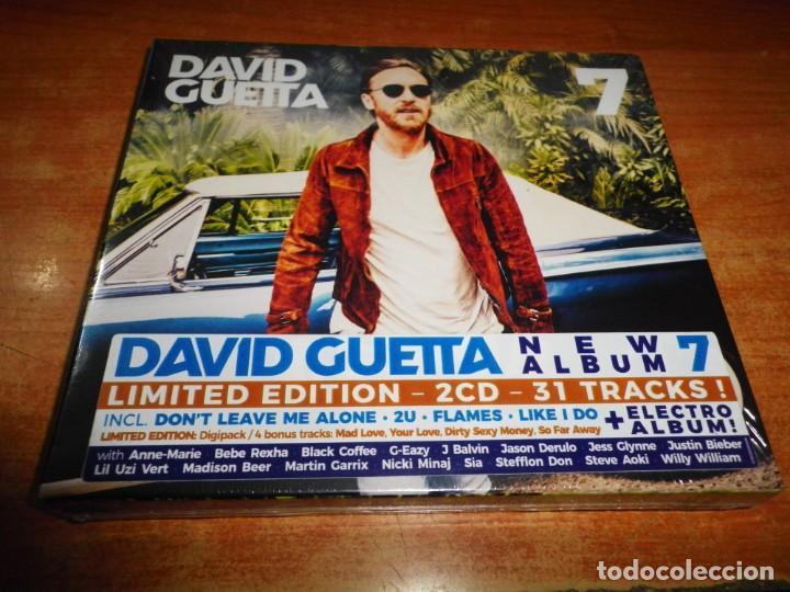 DAVID GUETTA 7 DOBLE CD DIGIPACK PRECINTADO 2018 JUSTIN BIEBER SIA J BALVIN  STEVE AOKI BECKY G 2 CD