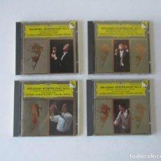 CDs de Música: BRAHMS: SYMPHONY NO 1, NO 2, NO 3 Y NO 4 - BERLINER PHILHARMONIKER, CLAUDIO ABBADO - 4 CD. Lote 171428244