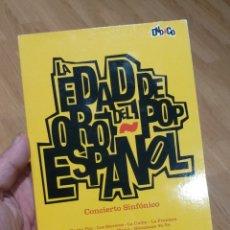 CDs de Música: LA EDAD DE ORO DEL POP ESPAÑOL - CONCIERTO SINFÓNICO. Lote 171508145