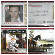 CDs de Música: LOTE 2 CD'S CRISTIAN CASTRO (EL INDOMABLE - ROMANCES) * VER FOTOS. Lote 171680849