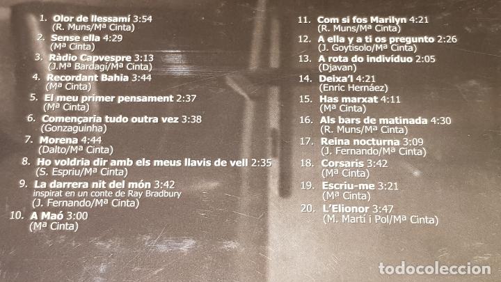 CDs de Música: OCASIÓN !! / MARIA CINTA / QUASI TOT / DIGIPACK-CD - K INDUSTRIA-2007 / 20 TEMAS / PRECINTADO. - Foto 3 - 208143385