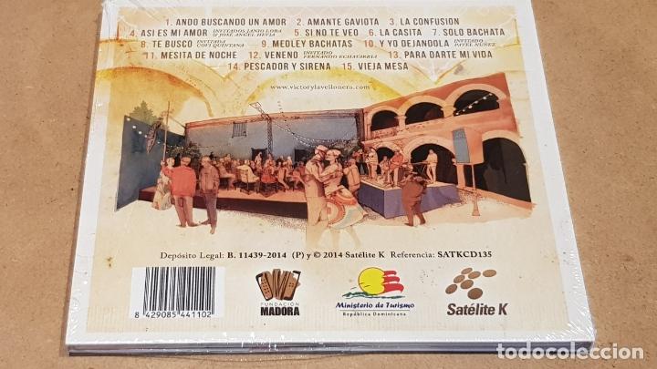 CDs de Música: VICTOR VICTOR & LA VELLONERA / BACHATA EN LA ZONA / DIGIPACK-CD - SATELITE K-2014 / PRECINTADO. - Foto 2 - 171710393