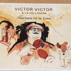 CDs de Música: VICTOR VICTOR & LA VELLONERA / BACHATA EN LA ZONA / DIGIPACK-CD - SATELITE K-2014 / PRECINTADO.. Lote 171710393